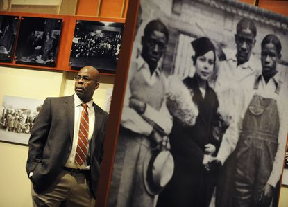 Dr. H. Lovell Smith, a sociology professor at Loyola University, pictured at the Reginald Lewis Museum in Baltimore.