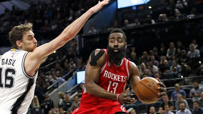James Harden's triple-double leads Rockets past the Spurs