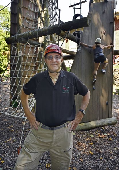 """Matt Baker, founder and """"Chief Adventure Officer of Terrapin Adventures, is subject of """"3 Things About"""" profile in Howard magazine. Terrapin Adventures is a ropes course/adventure center at Savage Mill."""