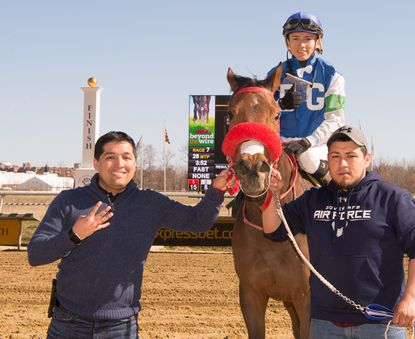 Laurel Park winter-spring meet-leading trainer Claudio Gonzalez, left, sent out four winners from five starters Sunday.