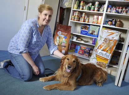 Thankful Paws founder Lynn Molnar with Hero