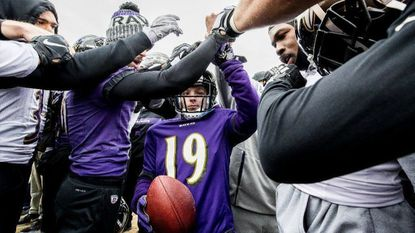 The Ravens grant Frankie Collurafici's wish to be a Raven for a day.