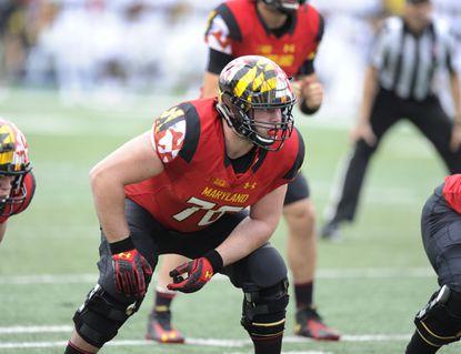 Maryland offensive lineman Michael Dunn.