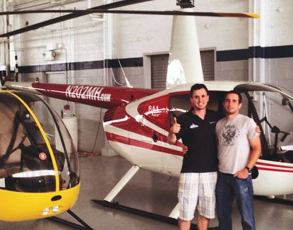 Brothers David, right, and Josh Jenny shared a passion for helicopters. David was killed Saturday night in a helicopter crash in Pennsylvania.
