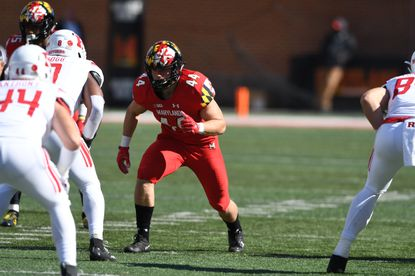 Maryland linebacker Chance Campbell plays against Rutgers on Oct. 13, 2018.