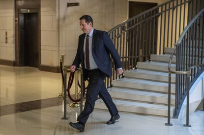 Rep. Devin Nunes, R-Calif., walks to a secure area of the Capitol in Washington, Tuesday, Dec. 3, 2019.