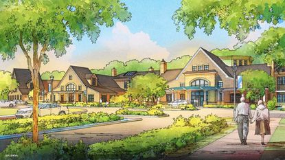 An artist's rendering of Bay Village, an 88-united assisted living facility set to open in January. Officials with facilities say they're changing to meet the new problems presented by the pandemic.