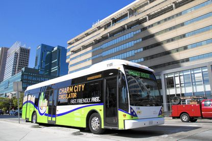 "The Towson Circulator Study Committee reports that the ""potential"" for a Towson Circulator/Shuttle exists and that the shuttle, modeled after Charm City Circulator in Baltimore seen here, could benefit the Towson community."