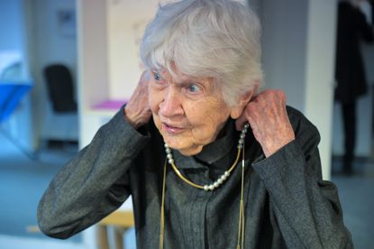 Betty Cooke, 97 years old, whose jewelry is featured at a showing at the Walters Art Gallery, can still be seen at The Store Limited in the village of Cross Keys.