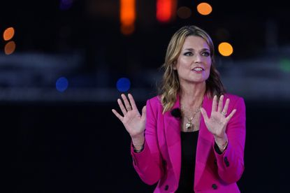 Moderator Savannah Guthrie speaks during an NBC News Town Hall with President Donald Trump at Perez Art Museum Miami, Thursday, Oct. 15, in Miami.