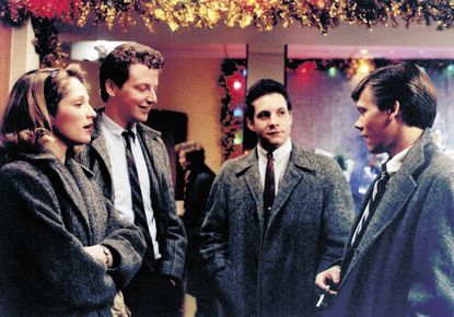 "A scene from ""Diner,"" which celebrates its 30th anniversary with a week-long series of events, culminating in a gala on Saturday. From left: Ellen Barkin as Beth, Daniel Stern as Laurence, Steve Guttenberg as Edward and Kevin Bacon as Timothy."