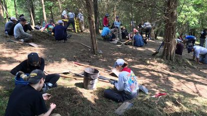 Towson University forensic science students search Kentucky park for missing person from 1980