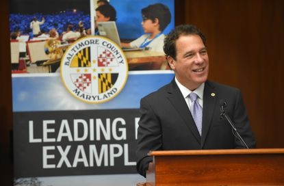 Baltimore County Executive Kevin Kamenetz is due a $384,000 payout when he leaves office, thanks to legislation he supported years ago as a county councilman.