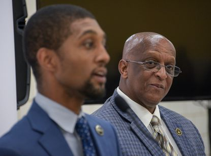 "Baltimore Mayor Bernard C. ""Jack"" Young has rejected plans by City Council President, and Democratic nominee for mayor, Brandon Scott to cut $23 million in police department funding and redirect it to other programs."