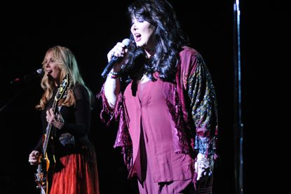 Sisters Nancy (left) and Ann Wilson, of Heart, at Pier Six Pavilion.