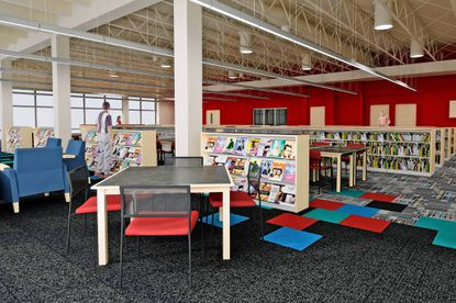 A rendering by the architectural firm Buchart Horn shows how the Waverly Library would look like inside after a planned renovation.