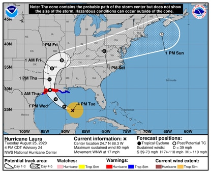 Forecasters are saying the Baltimore region might experience severe weather this weekend. Photo via National Hurricane Center.
