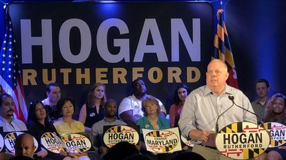 Governor Larry Hogan launches his reelection campaign Saturday with rally at Union Jack's British Pub in Annapolis.