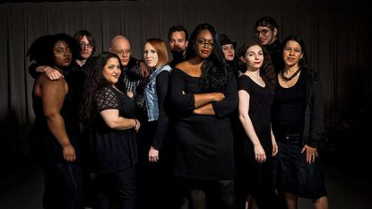 "The cast of ""Making Advances: Revealing Stories About Gender & Sexual Identity"" from left: Chania Hudson, Brichard Foley, Maia Krapcho, Douglas Beatty, Sarah Luckadoo, Michael Makar, Makayla Beckles, Kelli Jones, Allie Press, Daniel Johnston, Jamie Barrios."