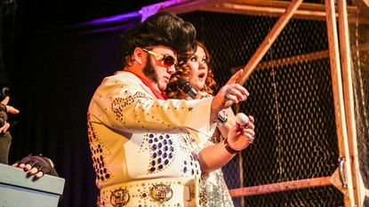 Elvis is in the building and refereeing bouts at his Birthday Fight Club at the Creative Alliance Friday and Saturday.