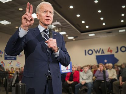 Former Vice President Joe Biden speaks during a campaign event at the Gateway Hotel and Conference Center in Ames, Iowa, on Jan. 21, 2020.