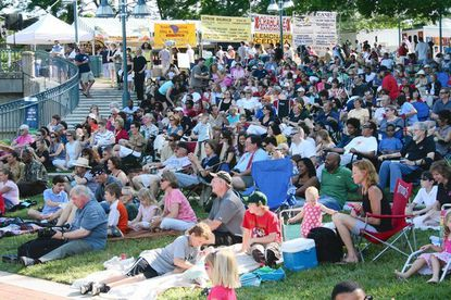 Music performances at LakeFest draw big crowds to the downtown lakefront.