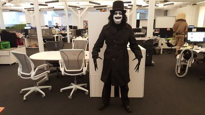 Elkridge resident Steve Graham won an office Halloween costume contest in 2016 when he outfitted himself as The Babadook, the title character in a 2014 thriller. Graham is one of six Marylanders who will voluntarily spend 30 hours in a coffin for Six Flags America's Fright Fest.