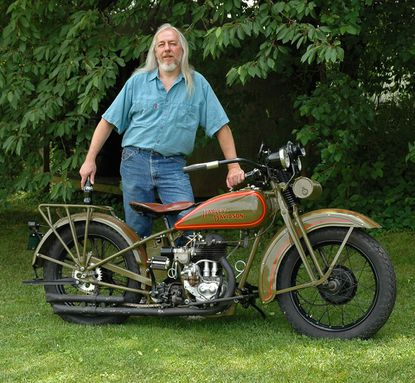 Bob Tyson, a retired machinist/engineer and New Windsor resident, will be on hand with several antique motorcycles at New Windsor's Music on the Main on Oct. 5.