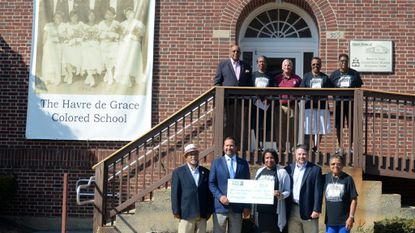 Chairman of the Havre de Grace Colored School Foundation Patricia Cole, front row center, will be honored Friday with the MLK Foundation of Maryland Award for efforts with the former school.