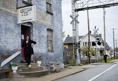 Jessica Crawford, pictured May 8, 2020, runs Cotton & Co. Vintage Boutique in Keymar. Crawford, who has been selling online, sent a letter to the governor, delegates, and representatives asking for small businesses to be allowed to reopen with restrictions. Her vintage boutique is hurting after being closed for almost two months.