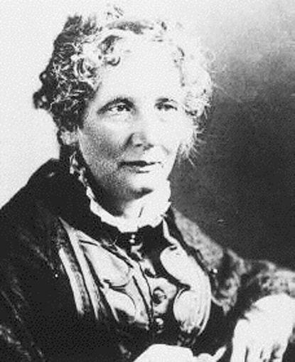 "Harriet Beecher Stowe, the author of ""Uncle Tom's Cabin,"" is shown."