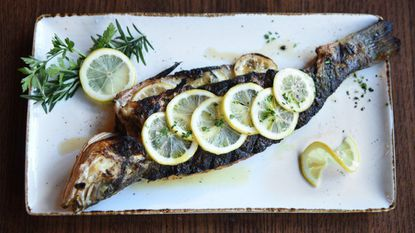 Branzino filet is on the menu at Sotto Sopra, one of the restaurants participating in Baltimore Restaurant Week.