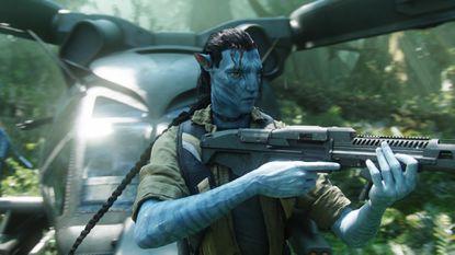 "A scene from the 2009 James Cameron movie ""Avatar,"" with actor Sam Worthington."