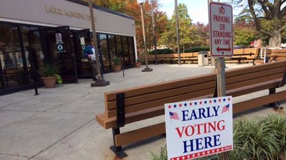 Early voting started at 8 a.m. at the Laurel Municipal Center Saturday.