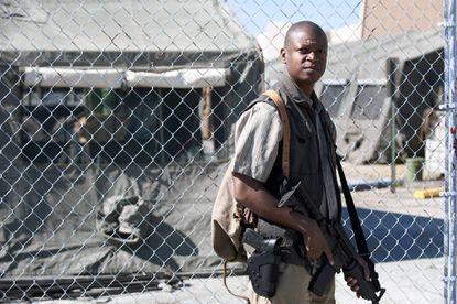 """Lawrence Gilliard Jr. as Bob Stookey in """"The Walking Dead"""""""