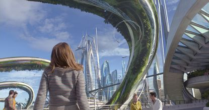 """Disney's """"Tomorrowland"""" starring Britt Robertson was heading toward a $40.7-million four-day holiday weekend box-office haul, shy of the $50-million that had been projected."""