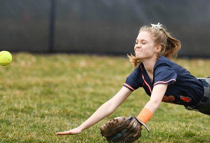 Reservoir High School's Macayla Allen is the only senior on the school's softball team.