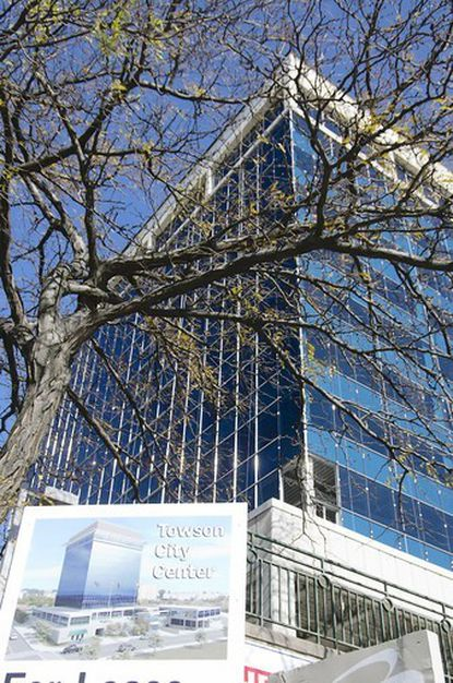 Only two floors left to lease at 12-story Towson City Center