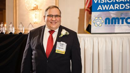 Frank Mayer, a career navigator under the Cyber and Technology Perkins Grant at Harford Community College, was honored earlier this year during the Northeastern Maryland Technology Council's Visionary Awards ceremony at the Richlin Ballroom.