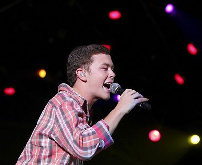 """Former """"American Idol"""" winner Scotty McCreery is shown performing at the ACM Fremont Street Experience on Mar. 30 in Las Vegas. McCreery will perform at The Great Frederick Fair in Frederick Sept. 21."""