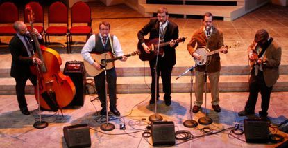Mike Beresh, second from left, performs with the Country Devils.
