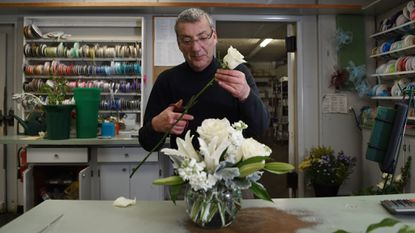 Ron Catterton works on a floral arrangement at Richardson's Flowers & Gifts, voted best florist in the Best of Harford County readers' poll.