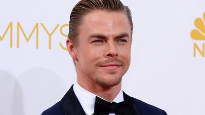"""Derek Hough said he stubbed his toe on a light fixture and, on his hasty way to get ice for the first injury, he """"rolled"""" his other ankle, causing more serious damage."""