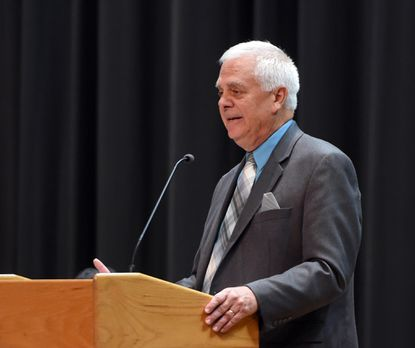 """Havre de Grace City Council President David Glenn, shown in this 2018 file photo, recognized the city's police force this week, emphasizing that recent incidents in which Black people have died at the hands of police are not """"the norm,"""" especially when it comes to the Havre de Grace Police Department."""