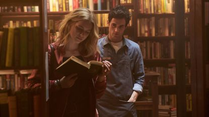 (L to R) Elizabeth Lail and Penn Badgley star in YOU, premiering September 9th at 10pm EST/PST on Lifetime. Photo Credit: Lifetime