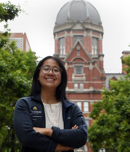 Ruoxi Yu is a medical student at Johns Hopkins medical school. She worked as a liaison between patients and families in April. June 18, 2020