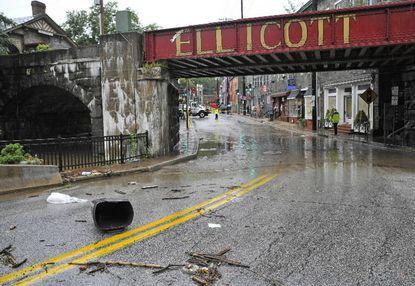 The aftermath of Tropical Storm Lee on Ellicott City's Main Street in 2011.County Executive Allan Kittleman formed a Flood Advisory Work Group last May to focus on long-term flood preparation and prevention.