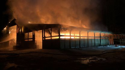 Fire envelops Watersville Road barn in Mount Airy; no injuries reported
