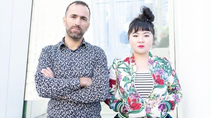 "Palestinian video artist Khaled Jarrar (left) and Du Yun, who is part of the composition faculty at the Peabody Institute of Johns Hopkins University, will present ""Where We Lost Our Shadows"" this weekend at the Direct Current festival in Washington, D.C."