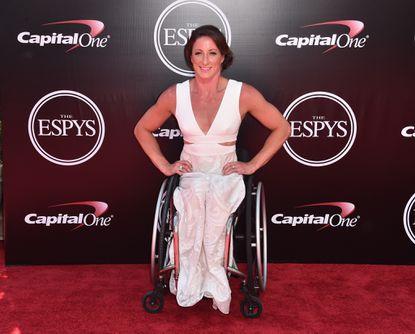 Clarksville's Tatyana McFadden at the ESPY Awards in Los Angeles on Thursday.